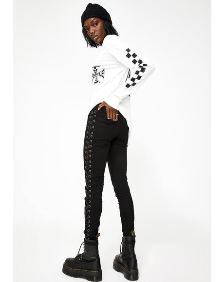 She Devil Side Lace Pants