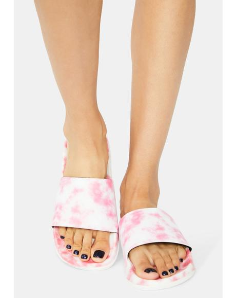 Kiss Cloudless Sky Tie Dye Slides