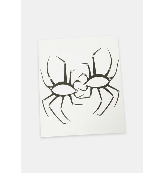 Supernatural Spider Face Stickers