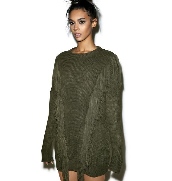 Studio Fringe Sweater