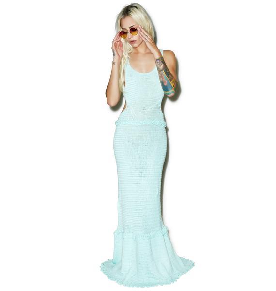 Somedays Lovin Ocean Child Crochet Maxi Beach Dress