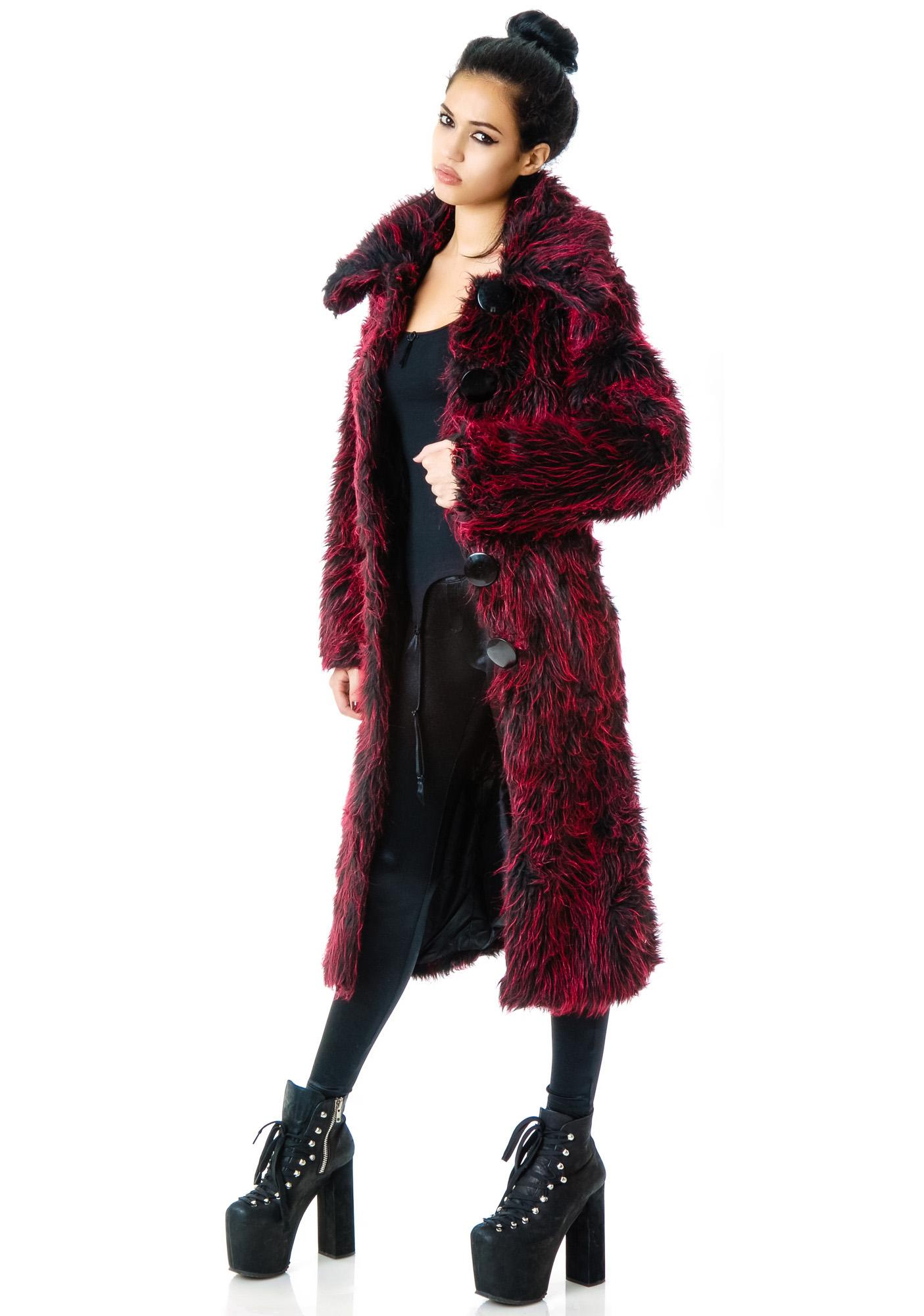 Beelzebub's Fur Long Coat