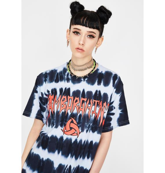 Samborghini Metal Striped Tie Dye Tee