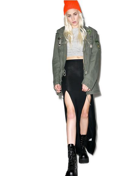 Hera Dual Slit Maxi Skirt