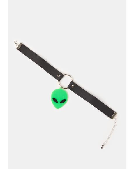 Give Me Some Space Alien O-Ring Choker
