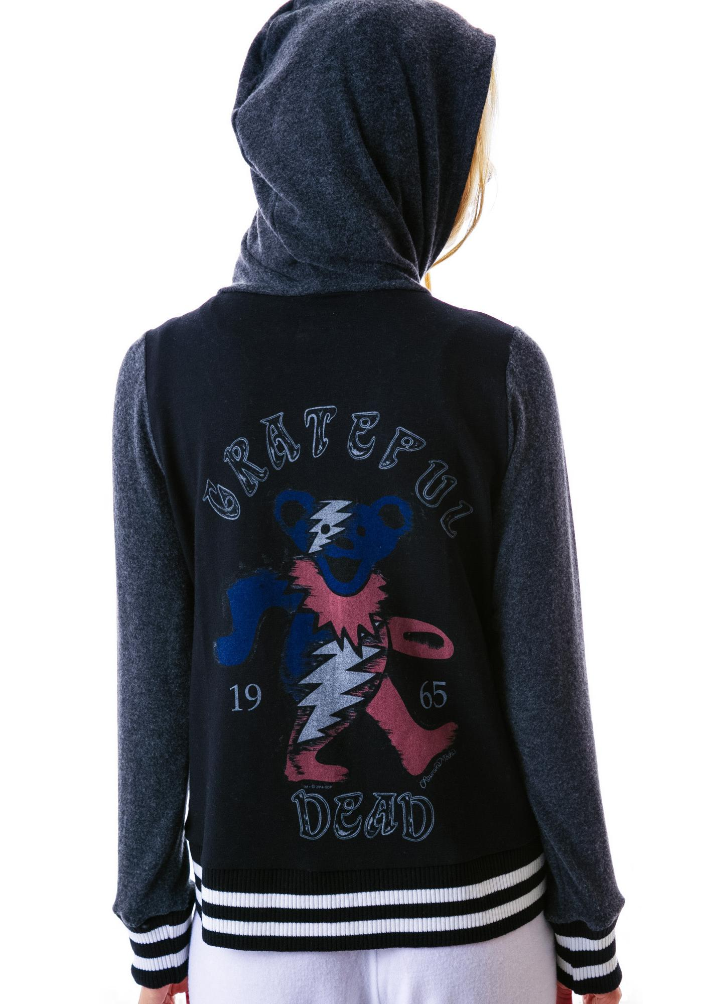 Lauren Moshi Sandra Dead Head Varsity Zip Up