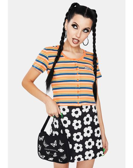 Miss Sunshine Striped Crop Top
