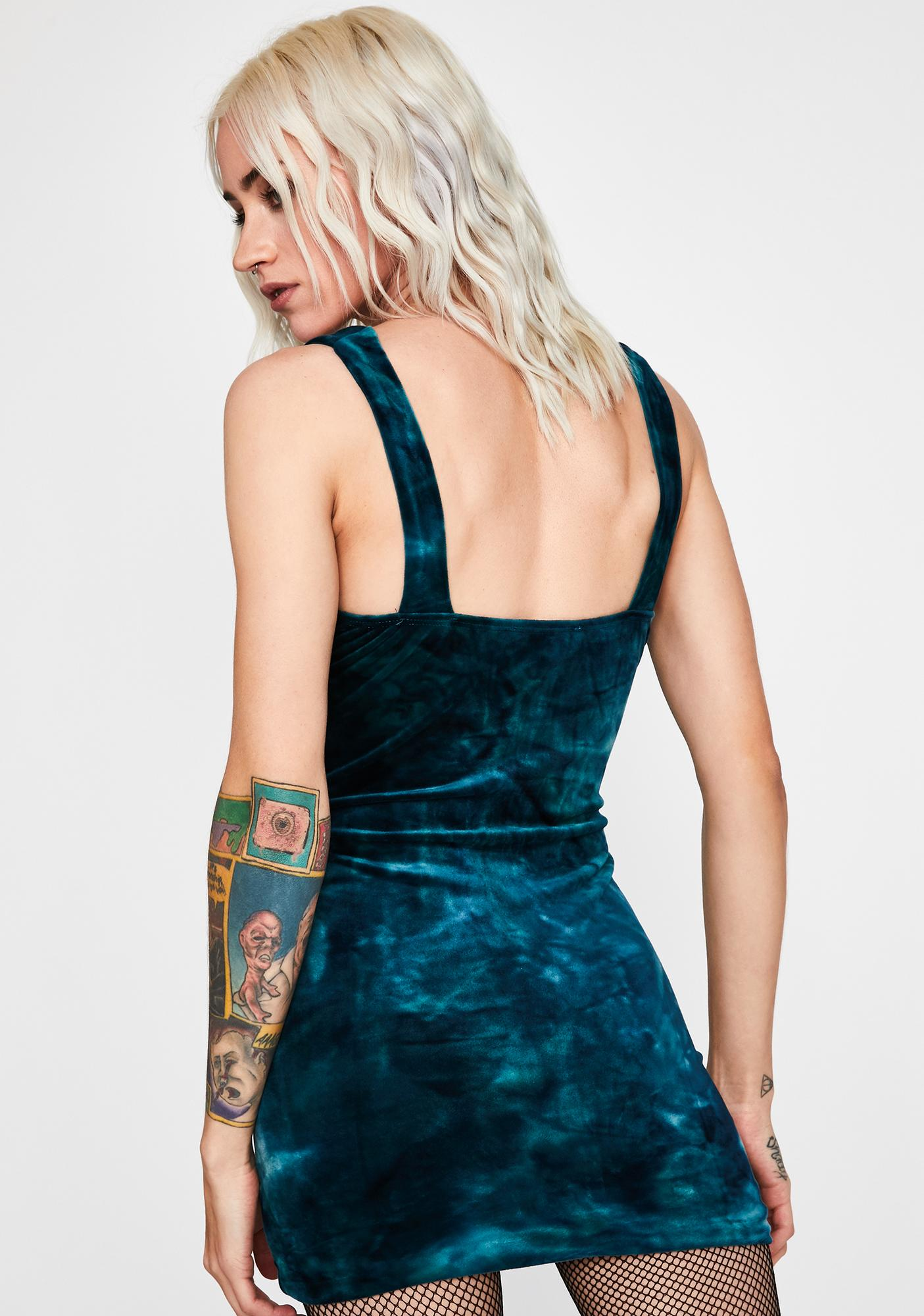 Sea Ruthless Temptations Velvet Dress