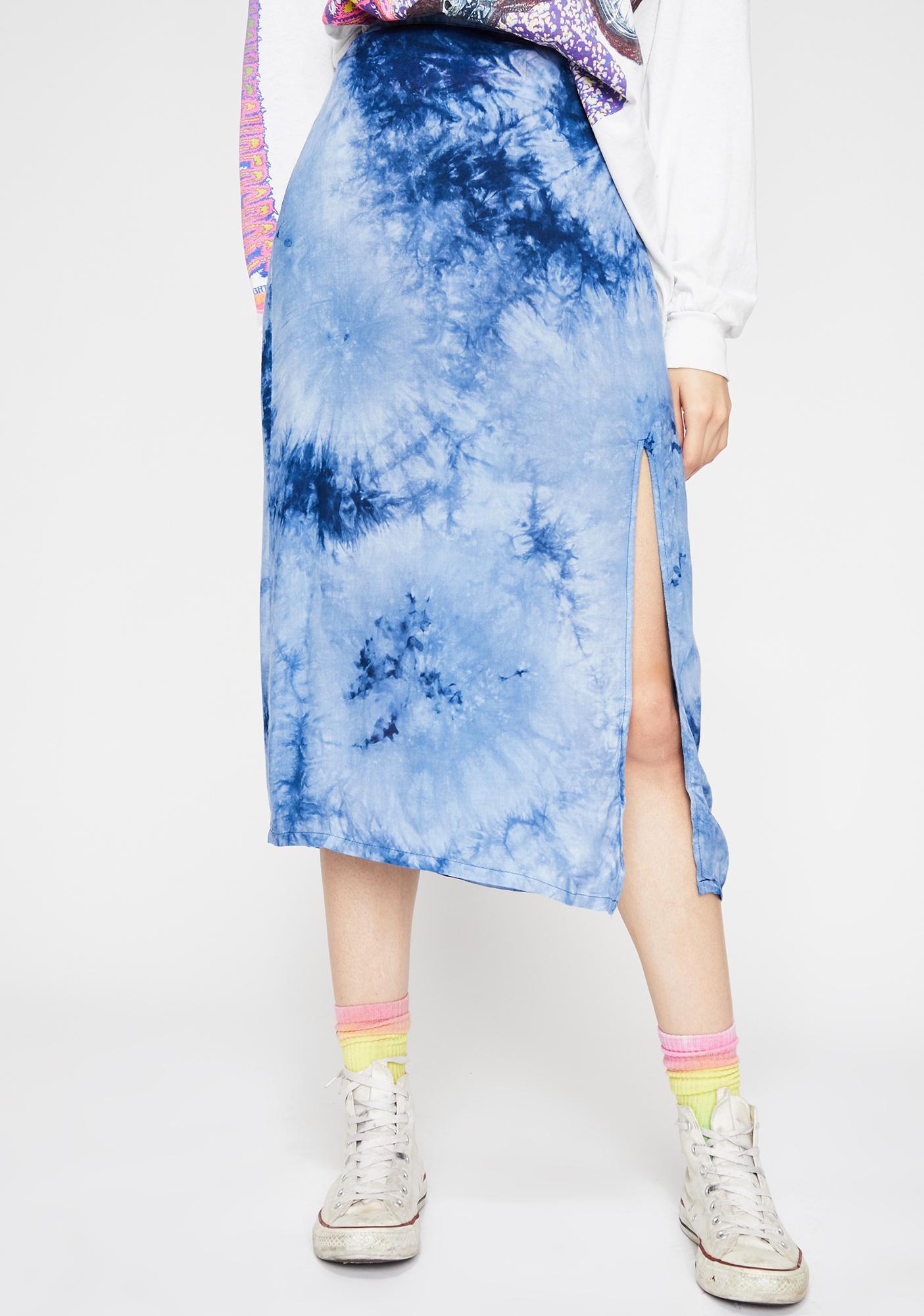 Indigo Catch My Vibe Tie Dye Skirt
