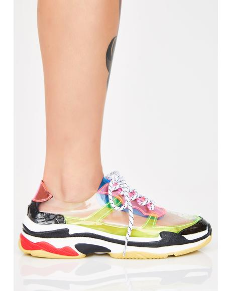 Clearly Cray Cray PVC Sneakers