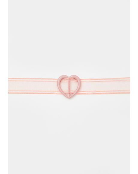 Heart On The Run Sheer Choker