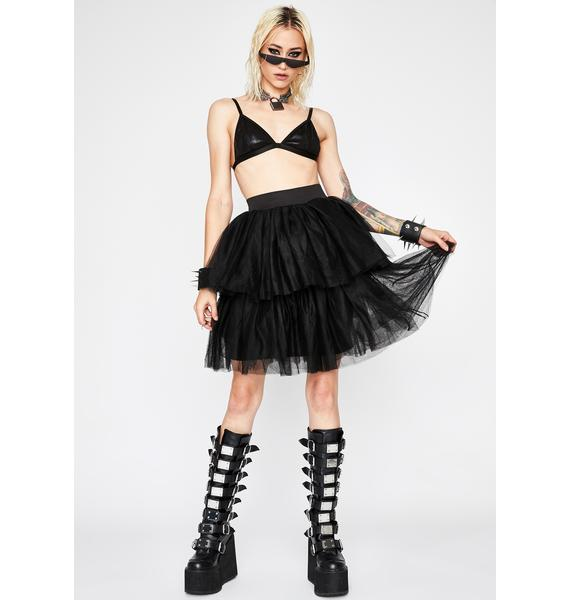 Dark Princess Vibes Tulle Skirt
