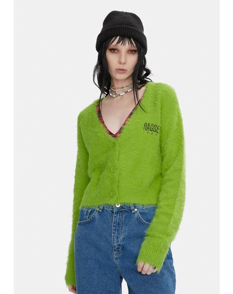 Vibe Fuzzy Knit Cardigan
