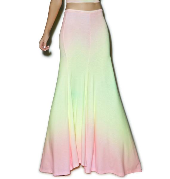 Wildfox Couture Rainbow Brite Maxi Verona Skirt
