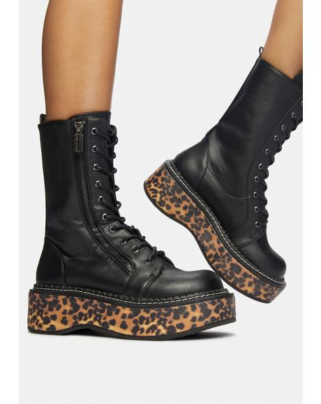 Fierce I'ma Cool Gal Combat Boots