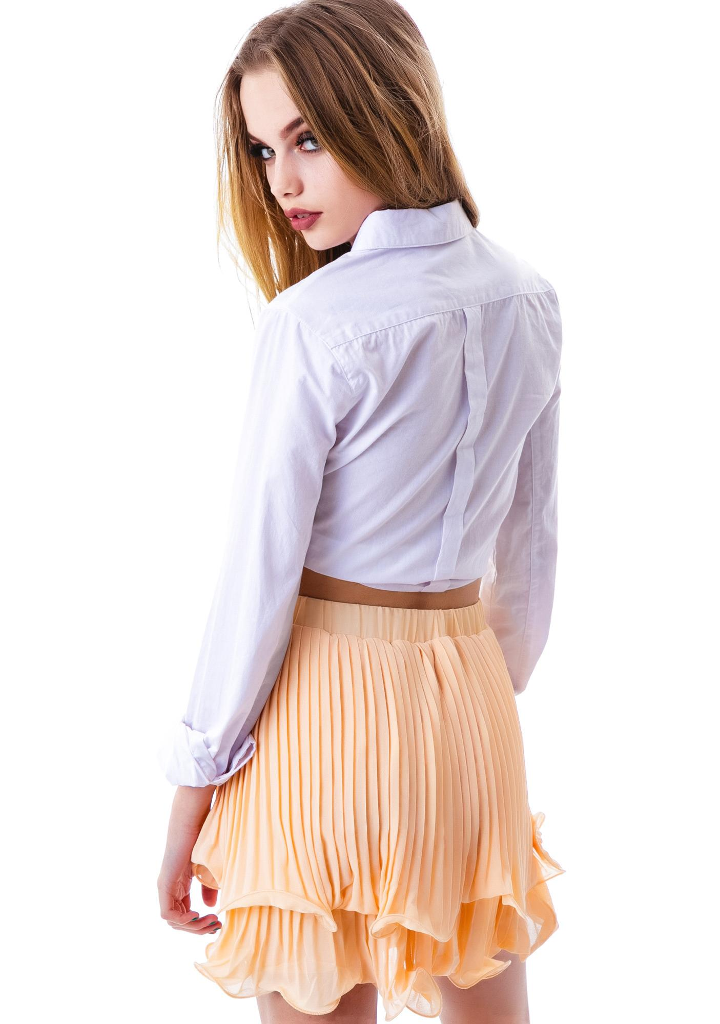 Making Waves Pleated Skirt