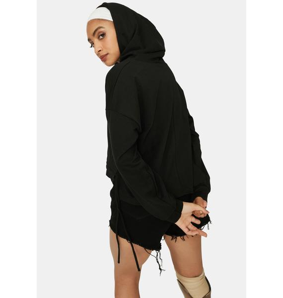 Dark Beach Player Terry Hoodie Top