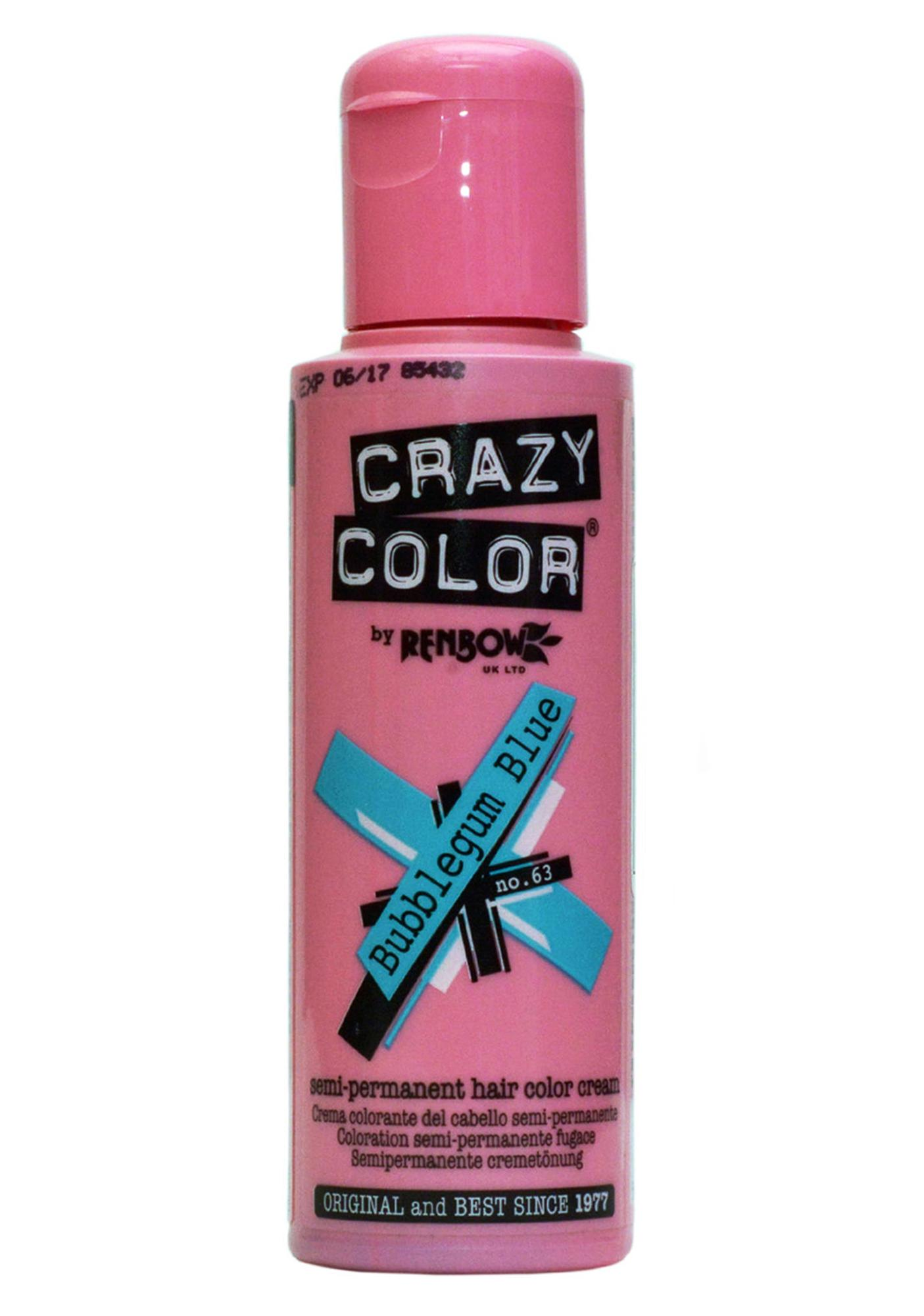 Crazy Color Bubblegum Blue Hair Dye