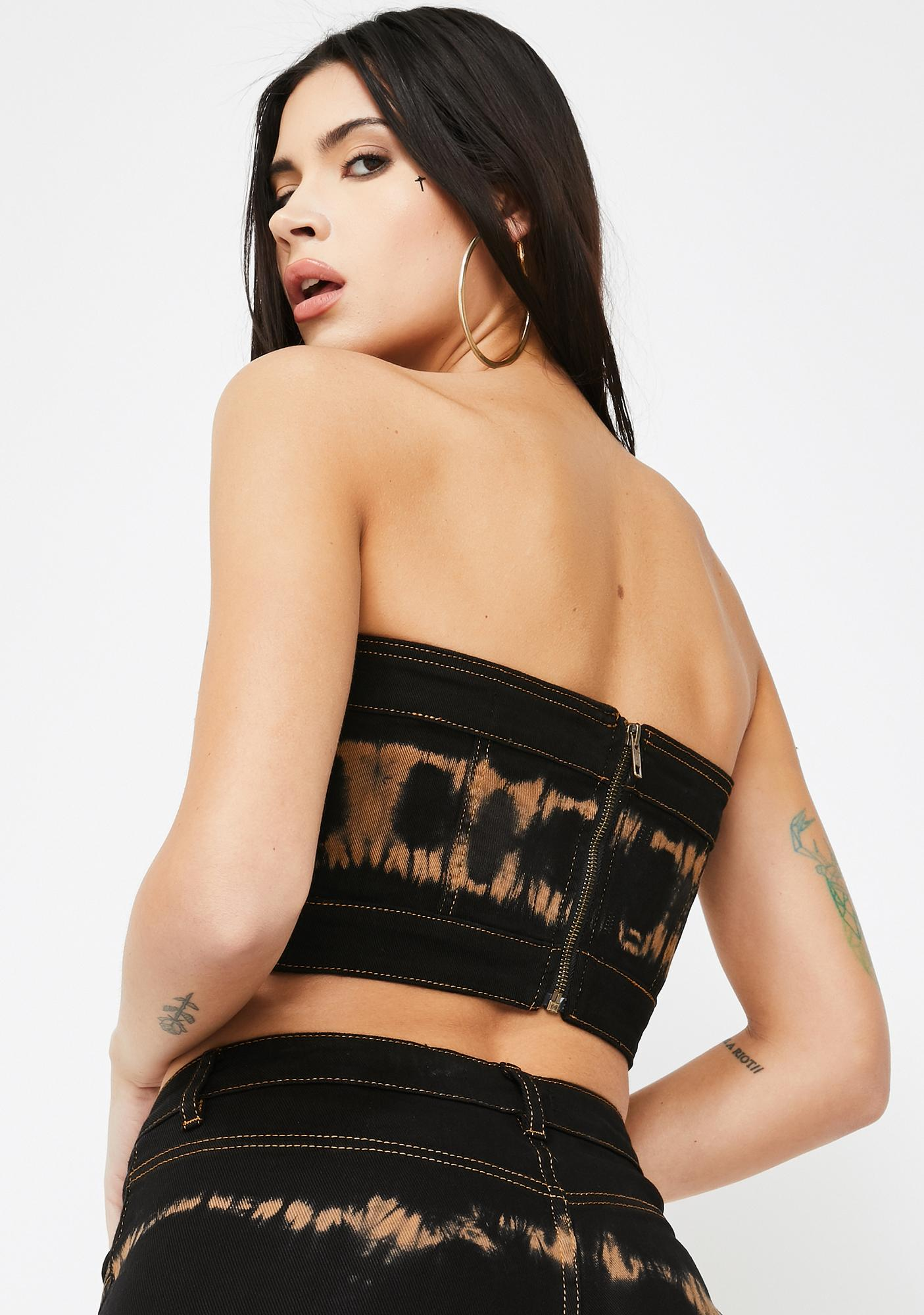I AM GIA Arago Black Tube Top