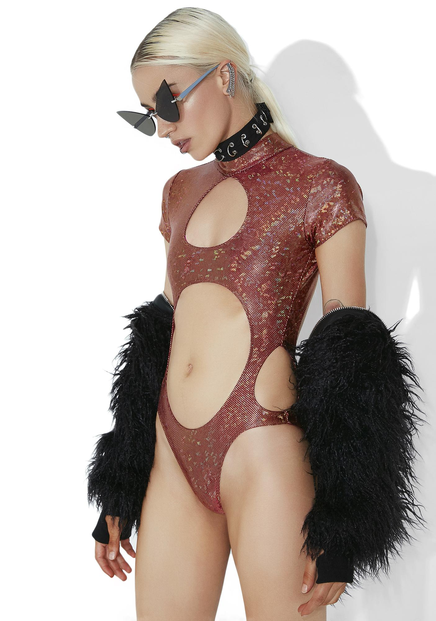 Club Exx Forbidden Planet Cutout Bodysuit