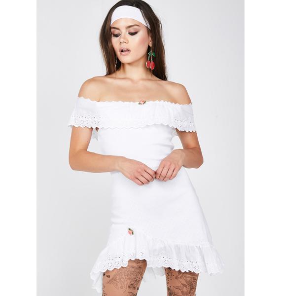 Sugar Thrillz Bombshell Blossom Off-The-Shoulder Dress