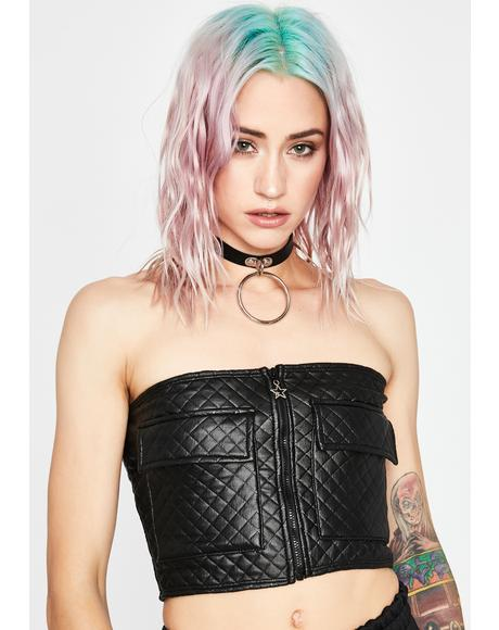 Noir Love Me Softly Cargo Tube Top
