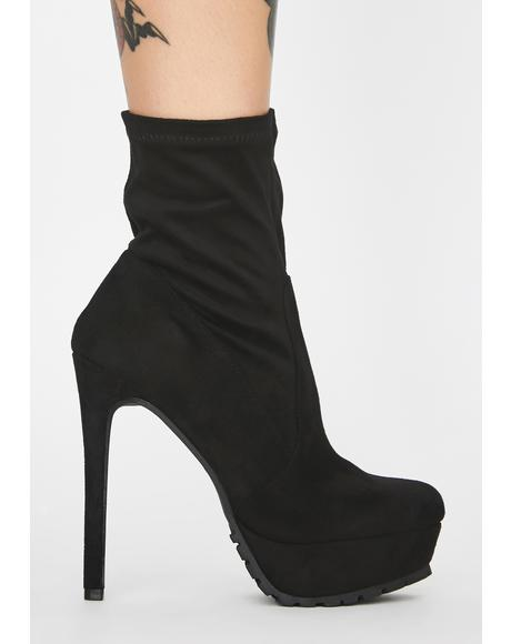 Hot Tempered Platform Booties