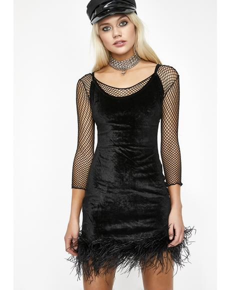 Midnight Know My Worth Velvet Dress