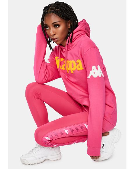 Pink 222 Banda Bluvi Pullover Graphic Hoodie