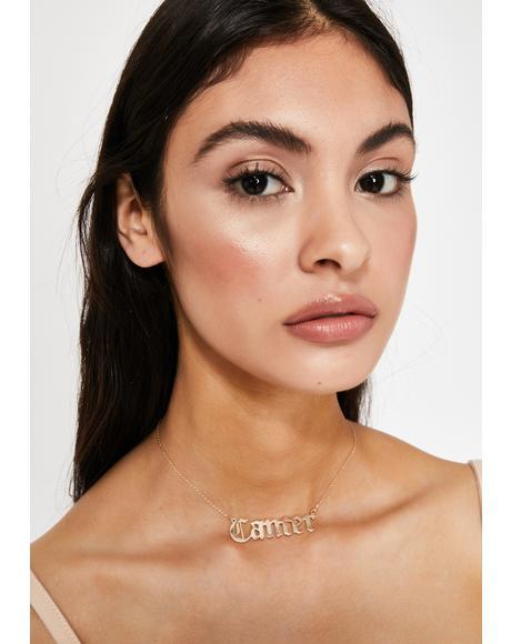 Moody AF Cancer Necklace
