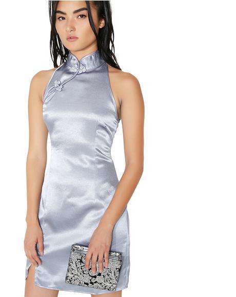 Lupine Satin Mini Dress