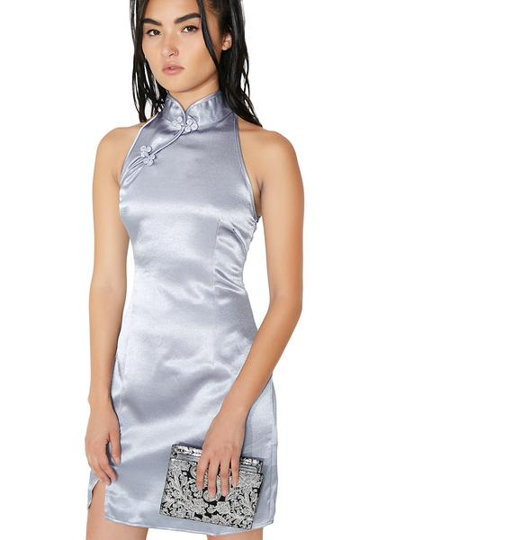 Glamorous Lupine Satin Mini Dress