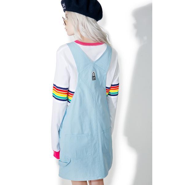 MadeMe x X-Girl Canvas Overall Dress