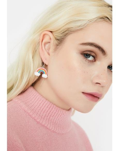 Fulfill Ur Wishes Rainbow Earrings
