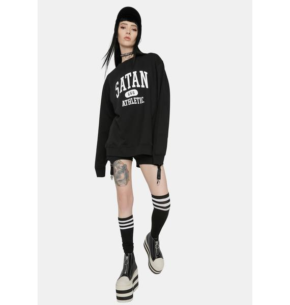 Satan Athletic College 666 Athletic Sweatshirt