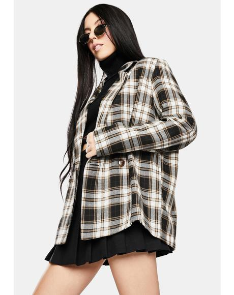 Vintage Check Relaxed Blazer