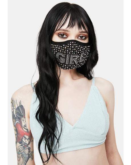 Glam Girl Rhinestone Face Mask