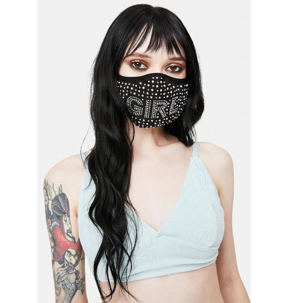 Glam Girl Rhinestone Face Mask