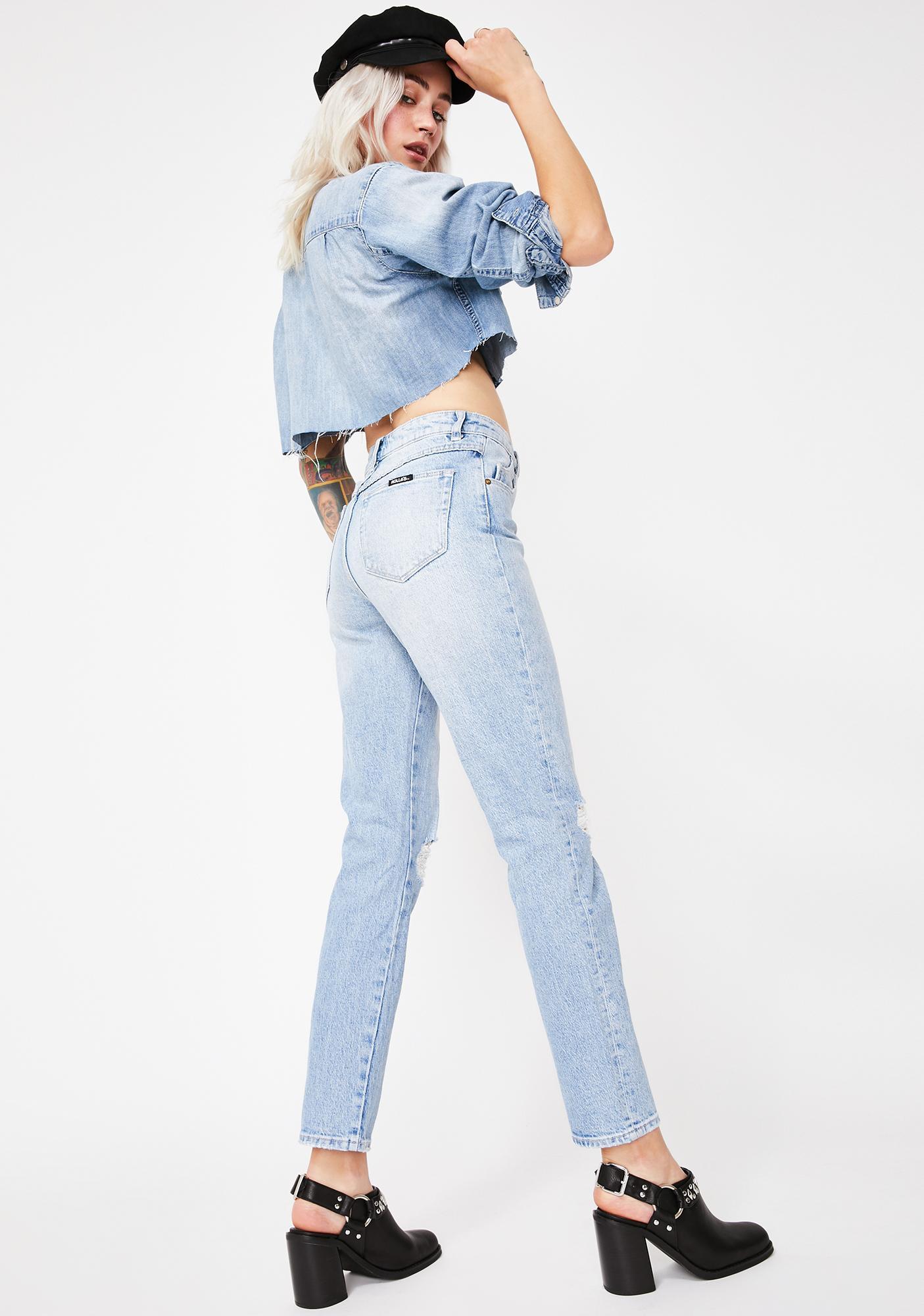 Rollas Faded Vintage Miller Skinny Jeans