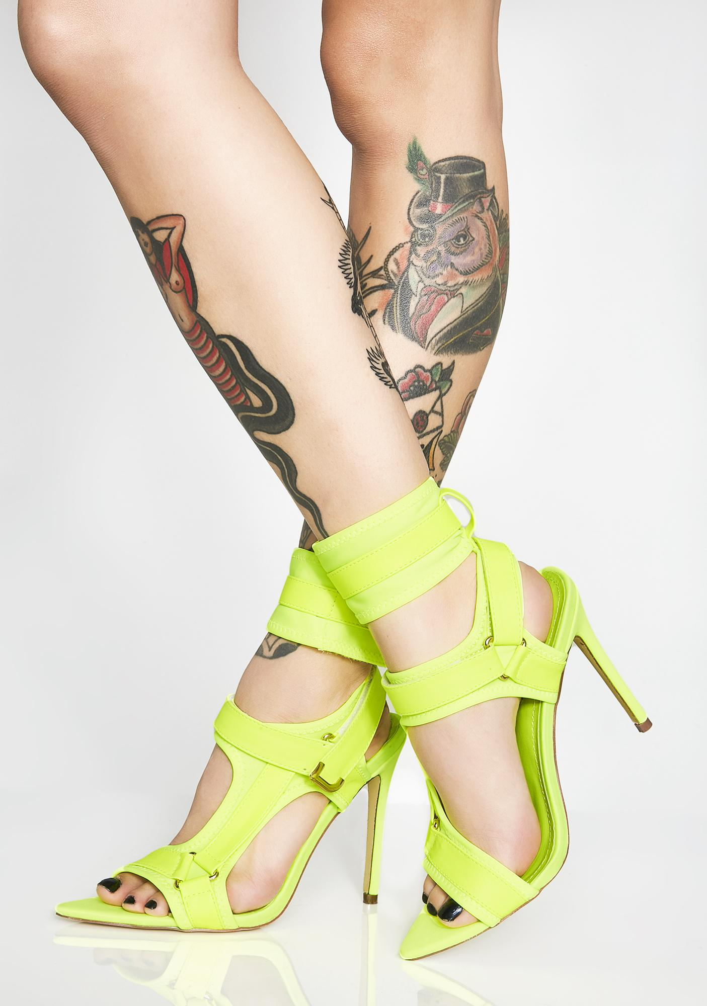 Electric Deep End Strappy Heels