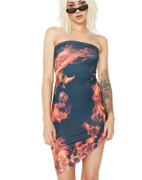 Hot Hot Heat Strapless Bodycon Dress