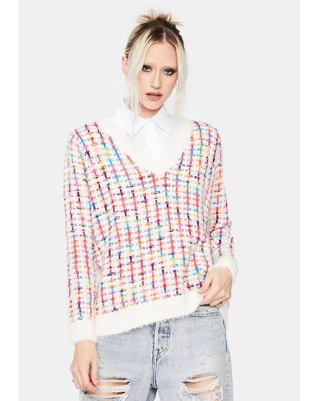 Piece Of Cake Tweed Sweater