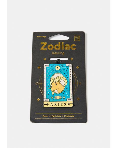 Passionate Aries Zodiac Keychain