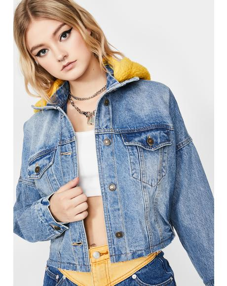 Lemonhead Denim Crop Jacket