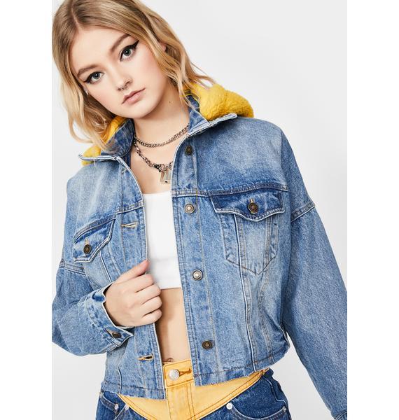 Lemonhead Denim Crop Jacket