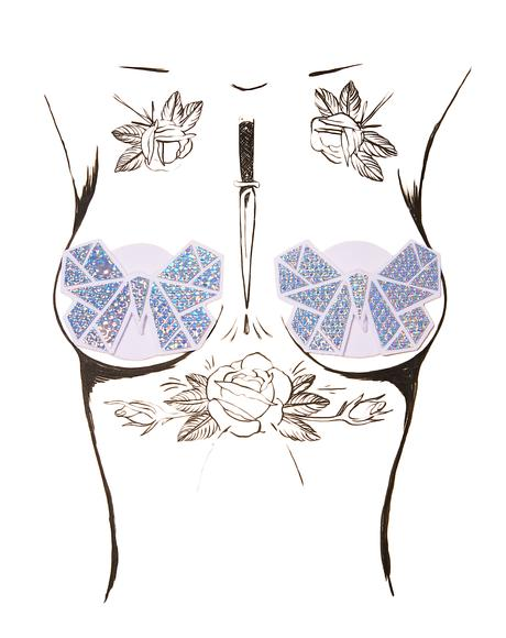 Holographic Butterfly Pasties