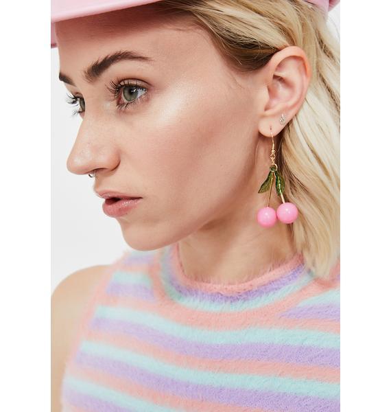 Sweet Tart Cherry Earrings