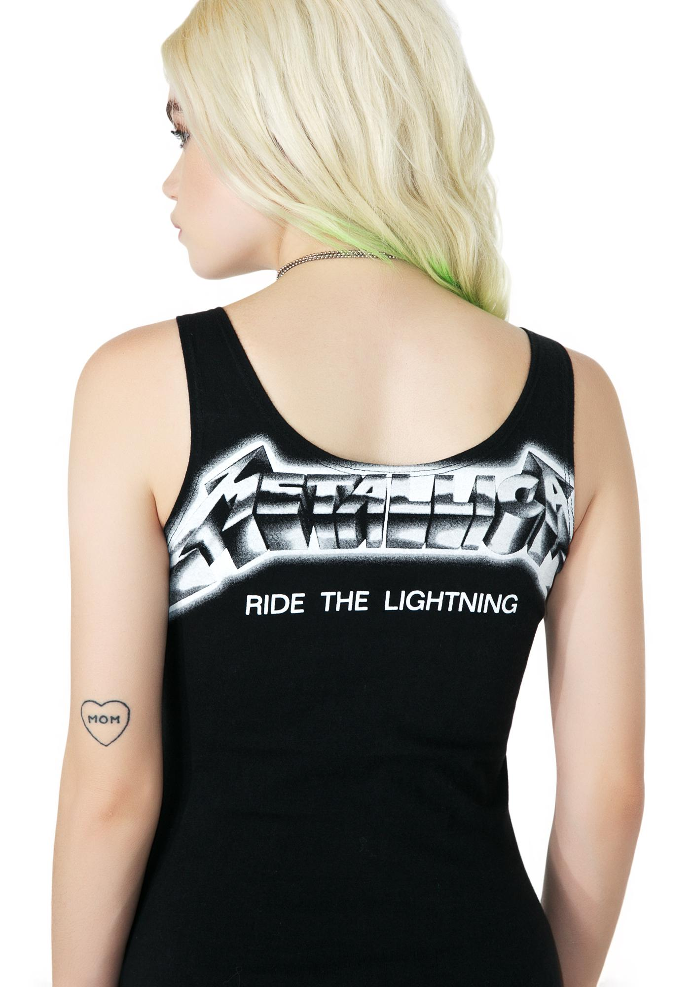 Hazmat Design Vintage Deadstock Ride The Lightning Metallica Tank