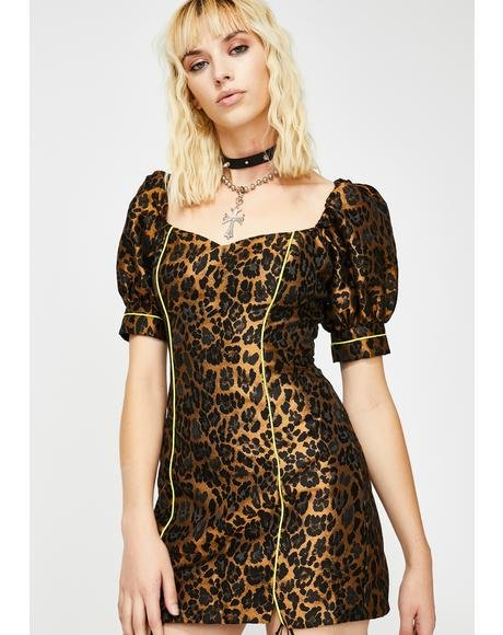 Jett Fitted Leopard Mini Dress