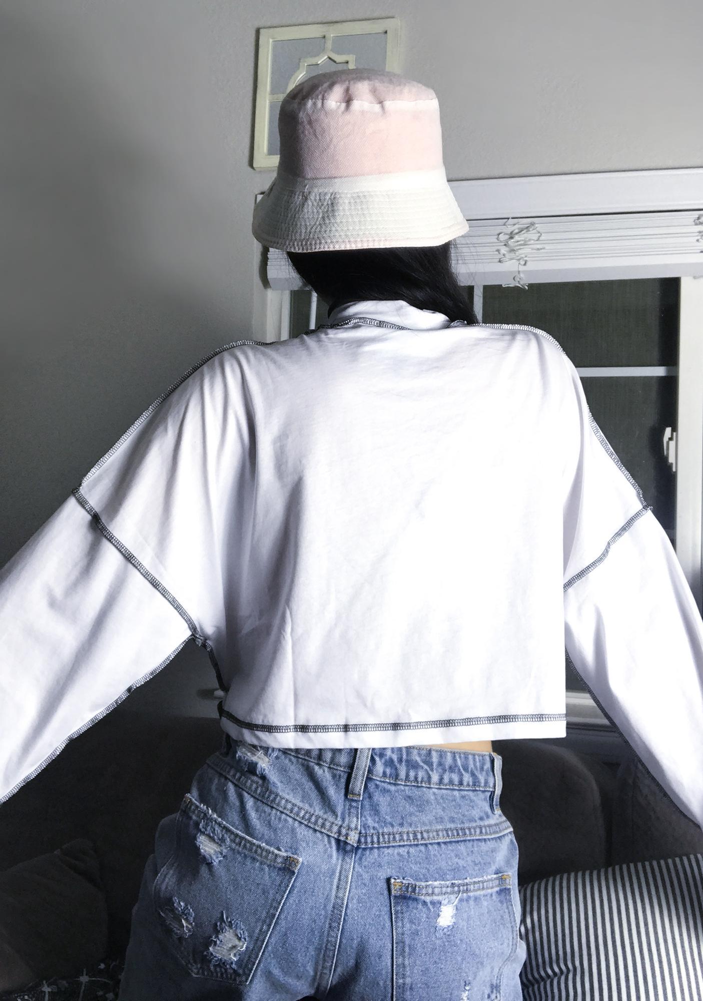 The Ragged Priest White Chain Drape Skater Tee